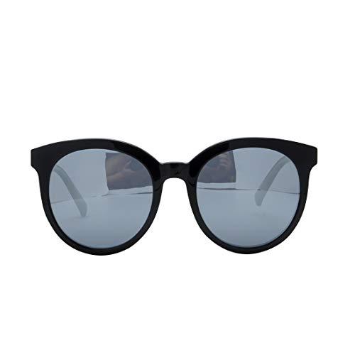 Yiph-Sunglass Sonnenbrillen Mode Klassische Männer Katzenaugen polarisierte Sonnenbrille Acetatfaser schwarz Rahmen TAC rosa Objektiv UV-Schutz Fahren Urlaub Strand Sonnenbrillen (Farbe : Schwarz)