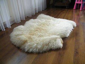 Biggest Sheepskin Rug | Genuine | Thick Wool | Creamy White (Large: 13