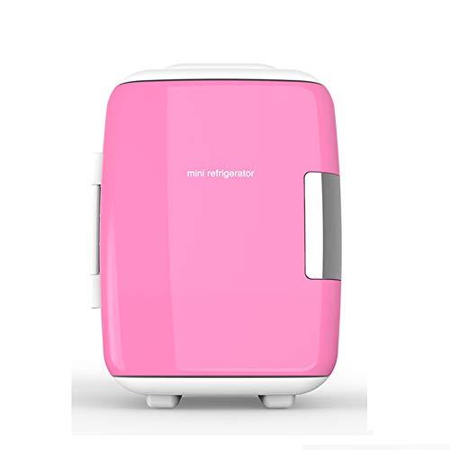 Kleiner Kühlschrank 4L Auto Miniatur kleine Haushaltskosmetik Kältehaus Schlafsaal,Pink,Householdcar