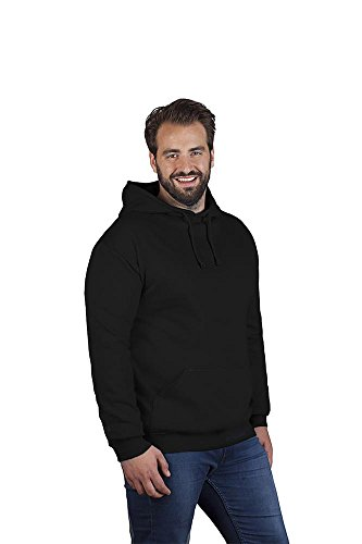 Promodoro Basic Hoodie 80-20 Plus Size Herren, 4XL, Schwarz