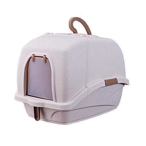 Toilette per gatti Lettiera Ciotola, Completamente Chiusa a Prova di Schizzi Deodorante Gatto WC vasino, Chiuso Toilette Gatto, Forniture di Gatto. (Color : Pink)