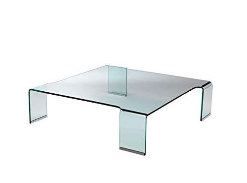 Mod. Fleur - table basse en verre incurvé