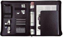 Alassio 30107 - Orgamappe IMPERIA im DIN A4 Format, Businessmappe aus FINEtouch-Lederimitat, Dokumentenmappe in schwarz, Mappe ca. 33,5 x 27,5 x 4 cm
