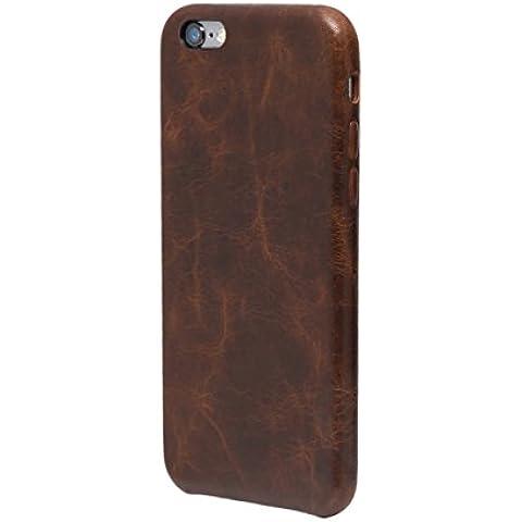 iPhone 6 / 6S Funda, FUTLEX Trasera Funda de auténtico cuero - Café - Ultra fino - Diseño y corte preciso - Hecho a mano