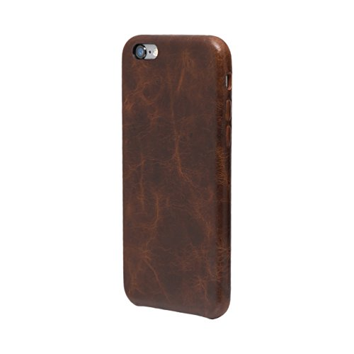 iPhone 6 / 6S Cover Custodia Posteriore, FUTLEX Custodia realizzato in vera pelle Stile Heritage - Caffè - Ultra sottile - Design e taglio preciso - realizzato a mano