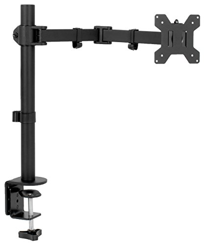 VIVO Full Motion Single VESA Monitorständer mit Doppel-Mittelarmgelenk 18