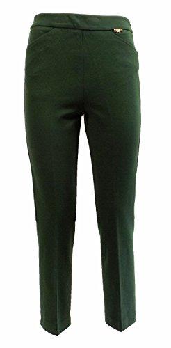 Pantalone Donna TWIN SET SA623E Cotone Punto milano corto Autunno Inverno 2016 Verde XS