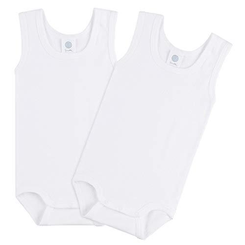 Arme Body (Sanetta Baby Body - Unisex, ohne Arm im Doppelpack aus Biobaumwolle, 62)