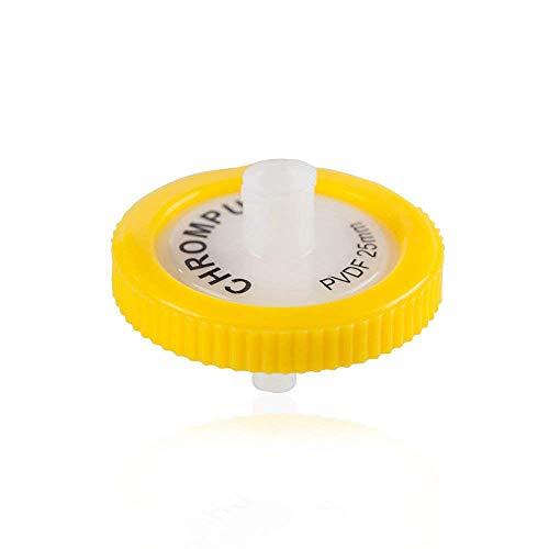 Membrane Solutions Laborfilter PVDF, 0,45 Mikron, Porengröße, 25 mm Durchmesser, 10 Stück -