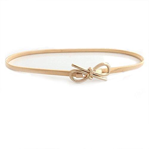 Nureinss cinture da donna elastico cintura di metallo cintura per vestito cintura chiusura ad incastro 70-100cm gold1