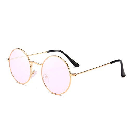 Providethebest Männer Frauen Runde Metallrahmen Sonnenbrillen Kreis-Harz-Objektiv UV-Schutz Eyewears Unisex Frauen männlich Sun Glasses