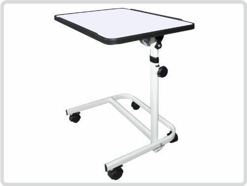Beistelltisch Beistellwagen Krankentisch Bett-Tisch/ weiß fahrbar