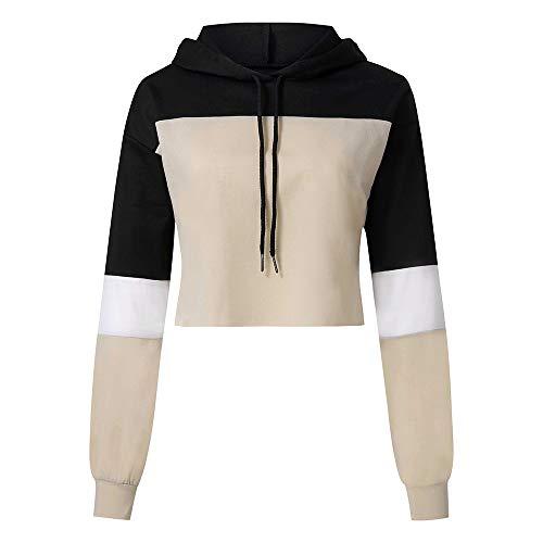 iHENGH Karnevalsaktion Damen Womens Langarm Splcing Farbe Hoodie Sweatshirt Frauen Pullover Tops...