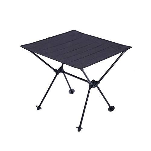 GaLon Table pliante de camping en plein air, Table pliante en aluminium Oxford, Table de pliage multifonctionnelle portative pour le camping en plein air (Color : Black)