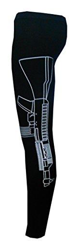 Neue Frauen Süchtig nach Liebe Fitness machine gun print Leggings Hose body fit