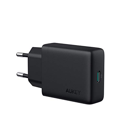 AUKEY USB C Ladegerät 30W mit Power Delivery 3.0, USB Netzteil Kompatible mit iPhone XS/XS Max/XR, Google Pixel 2/2 XL, MacBook/Air, Nintendo Switch usw