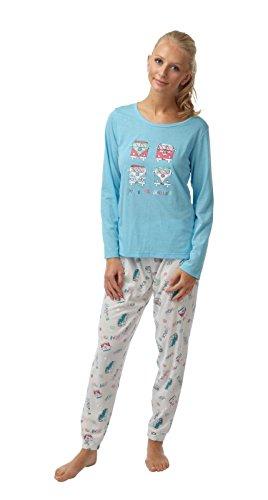 Ladies-Camper-Van-Motif-Long-Sleeved-Jersey-Pyjamas-Blue-or-Coral-Sizes-10-12-14-16-18-20