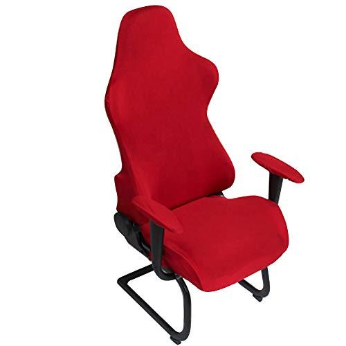 HOMYY Gamingstuhl-Bezüge, Ergonomische elastisch dehnbar Büro-Computer-Spielstuhl-Schonbezüge für Computer-Spielstuhl, Racing-Stil, Bürostuhl(Weinrot)