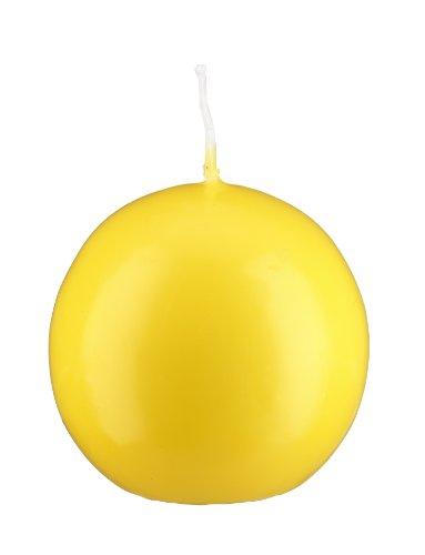 Bougie boule Citron 8 cm, 6 Bougies, Bougie Ronde