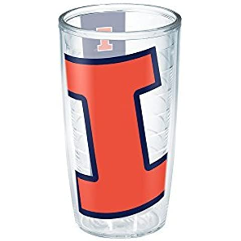 Tervis 1185880 Illinois University Colossal Wrap Individual Tumbler, 16 oz, Clear by Tervis