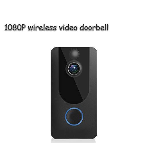 Wireleio Türklingel, 1080P HD-Video, PIR-Bewegungserkennung, 166 ° Weiter Betrachtungswinkel, Kostenloser 3-Monatiger Cloud-Speicher