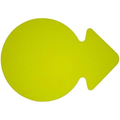 Folia 668911 - icono de la publicidad - flecha círculo, de unos 23 cm, 20, amarillo fluorescente