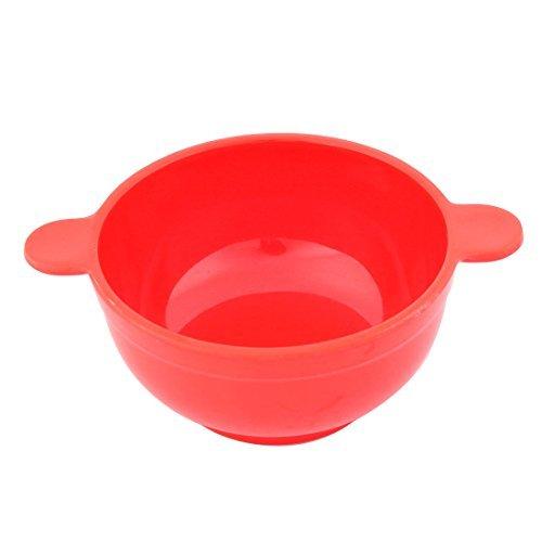 DealMux mélamine domestique Outil de cuisine Ear conçu Salsa Poignée Rice Soup Bowl Rouge