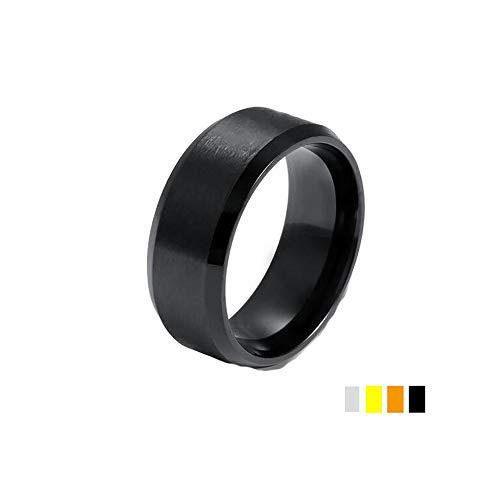 IVERIRMIN Titan Stahl Einfache Ring Männer Frauen Ehering Silber 8 (Und Frauen Claddagh-ring Männer)
