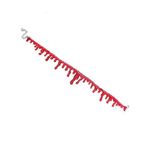 Gargantilla con diseño de película de terror, imitación de corte sangriento, para disfraz de Halloween