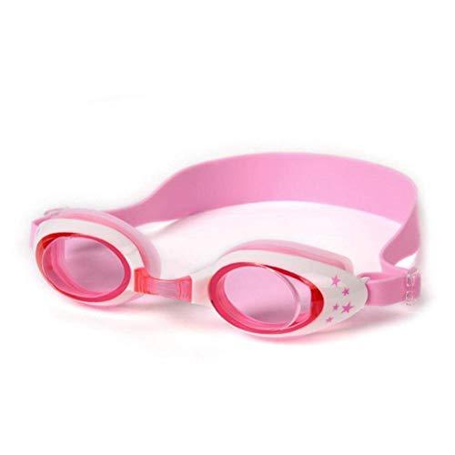 WeishenG Erstaunlich Kinder Schwimmbrille,UV Schützende,Auslaufsicher,Bruchsicher und Anti Nebel Schwimmbrille - Pink -