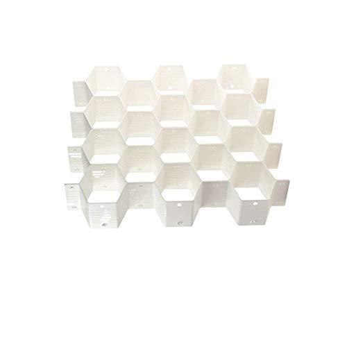 Onerbuy 8 stücke DIY Waben Schrank Organizer Schublade Teiler Kunststoff Partition Schrank Schubladen Aufbewahrungsboxen für Unterwäsche Socken Bras Krawatten Gürtel Schals und Make-Up Wabe