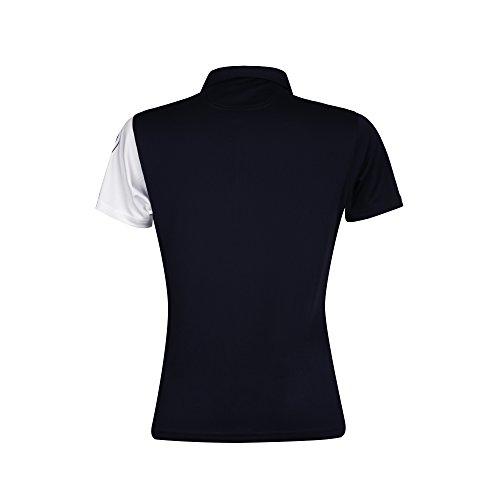 Green Lamb - T-shirt de sport - Femme Bleu marine/blanc