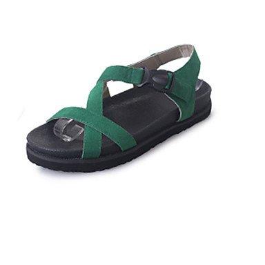 LvYuan Sandali-Formale Casual-Comoda-Piatto-PU (Poliuretano)-Nero Verde Grigio Green