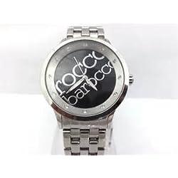 ROCCOBAROCCO Damenuhr aus Metall mit Ziffernblatt rund, Boden schwarz Logo und Armband