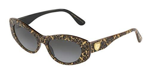 Ray-Ban Damen 0DG4360 Sonnenbrille, Mehrfarbig (Damasco Glitter One Black), 53.0