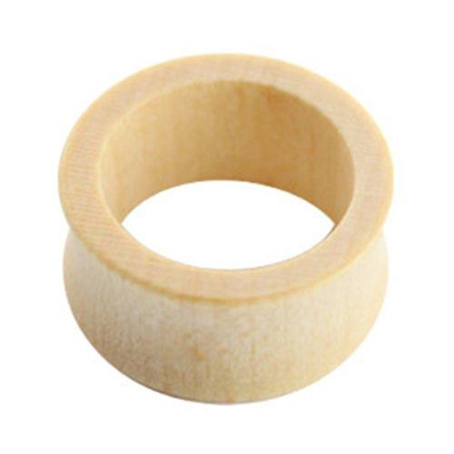 eeddoo Flesh Tunnel Holz Weiß Ahorn 6 mm