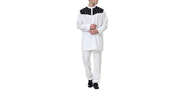 Arab Abaya Pantaloni Kaftan Uomo Abito Lunghi Musulmano zhxinashu Abiti Camicia Maschili Vestiti Vintage