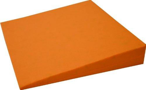 Orthopädisches Keilkissen Kissen Sitzkissen Sitzkeilkissen Sitzkissen Sitzkeil mit 100 {679d30e9eaf6ab3b523c1fbcf04105ea71d62c283224343a35410b1ccb75e30a} Baumwollbezug! (orange)
