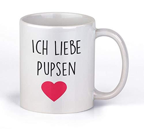 TassenTicker - Ich Liebe Pupsen - Kaffee/Tee/Becher/lustig/Arbeit/Büro/Kollegen/Chef/Geschenk/ - Hochwertige beidseitig Bedruckt