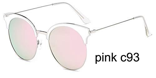 LKVNHP Marke Kunststoff Titan Rahmen 23g Polarisierte Sonnenbrille Frauen Cat Eye Mode Uv Protector Hd Brille Spiegel WeiblichWPGJ090 ROSAC93