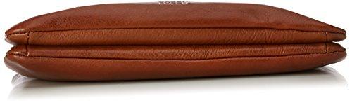 Fossil Damen Tasche Devon-Crossbody Umhängetasche, 3.2x17.8x25.4 cm Braun (Brown)