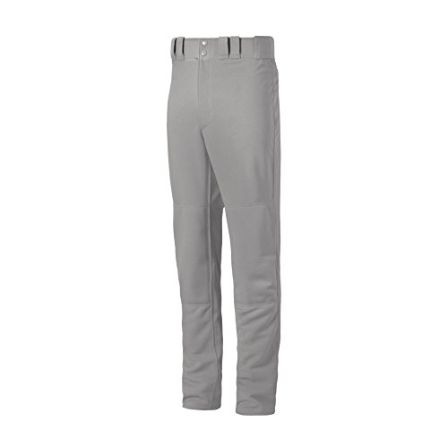 Mizuno Premier PRO Erwachsene Baseball-Hose mit gesäumten Unterseite offen, grau, X-Large -