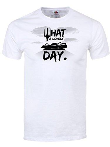 Max Kleidung Mad (What A Lovely Day Männer T-Shirt weiß. Inspiriert von Mad Max)