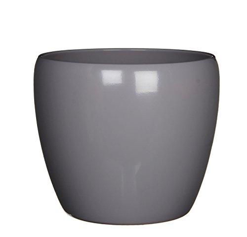 Mica Decorations 1010998 Lidy Pot Rond Céramique Gris Hauteur 22,5 cm Diamètre 26