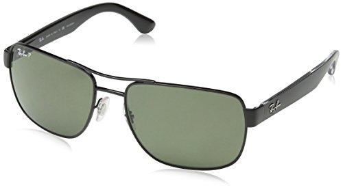 Ray Ban Unisex Sonnenbrille RB3530 Gestell: Schwarz, Gläser: Polarized Grün Klassisch 002/9A), Large (Herstellergröße: 58)