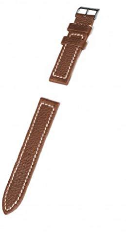 KHS Lederband Büffelleder braun, Ersatzarmband, KHS.EBLB51.22, Uhrenarmband