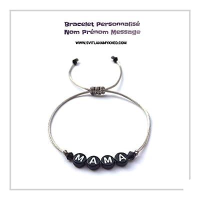 Bracelet MAMA personnalisé avec Message