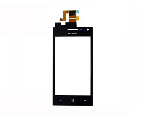 Handyteile24  Huawei Ascend W1 Touchscreen Touch Glas Digitizer Displayglas Scheibe Schwarz