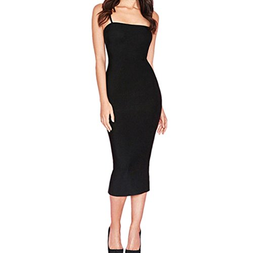 Kleid Damen Sommer SANFASHION Sexy Bodycon Slim Cocktail Party Clubwear Pencil Minikleid Kleider