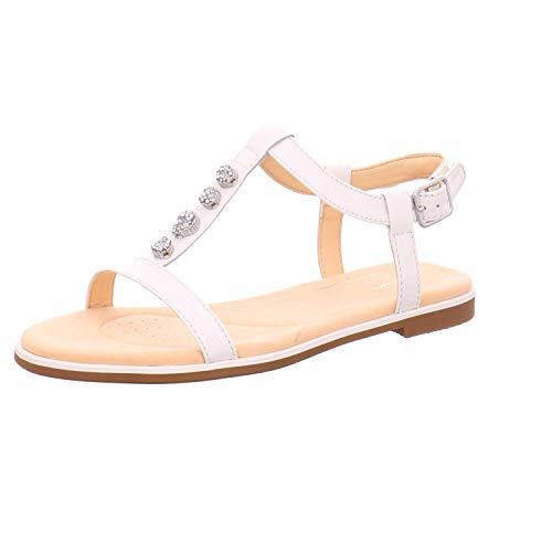 Clarks Bucht Blossom Damen Sandalen 5 D (M) UK/ 38 EU Weiß (Schuhe Damen Clarks Canvas)